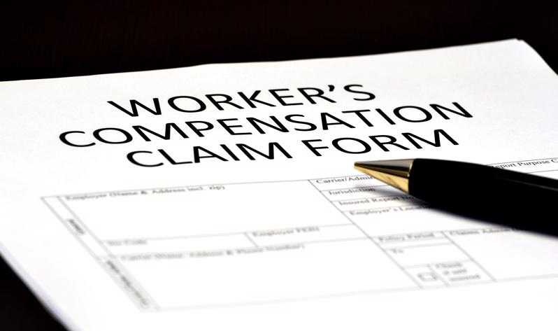 A workers compensation form.