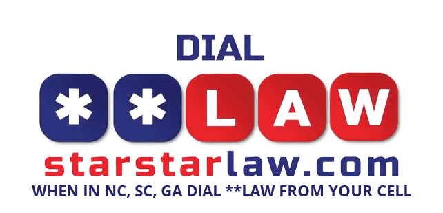 dial **law on your phone when in NC, SC, or GA