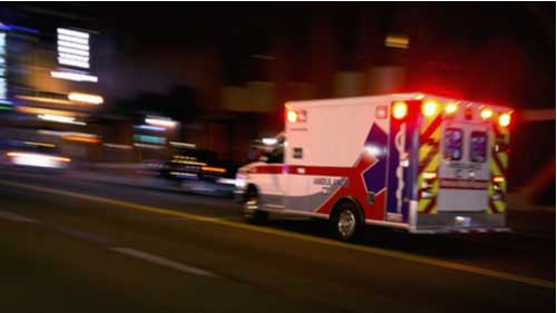 Ambulance, concept of crash leaving one dead in Jackson County